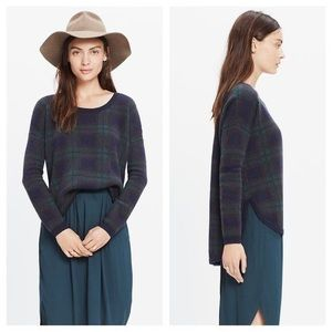 Madewell | Dark Green Plaid Pullover Sweater